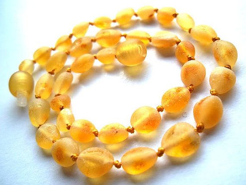 Baltic Amber Baby Teething Necklace Butterscotch 12""