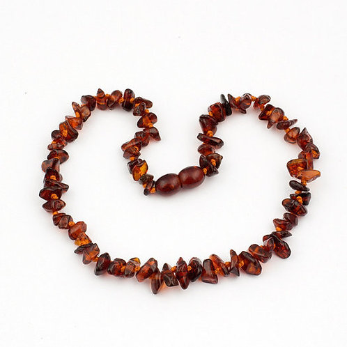 Baltic Amber Necklace Cherry Brown
