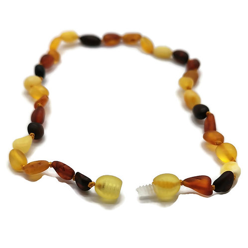 """Baltic Amber Baby Teething Necklace Multi-Color 12"""""""