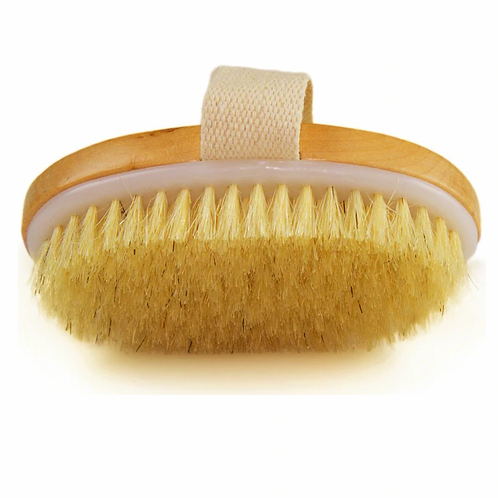 Dry Skin Body Brush Small Natural Boar Bristles