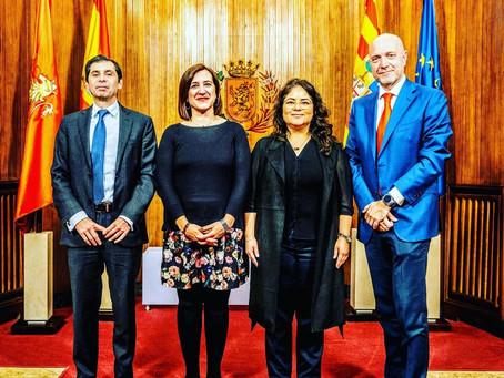 Recepción de la Vicealcaldesa del Ayuntamiento de Zaragoza al Consulado General de México