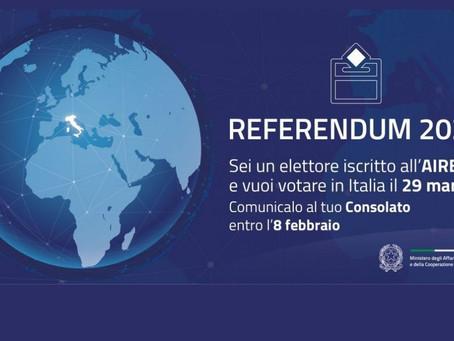 VOTO PER CORRISPONDENZA DEI CITTADINI ITALIANI RESIDENTI ALL'ESTERO