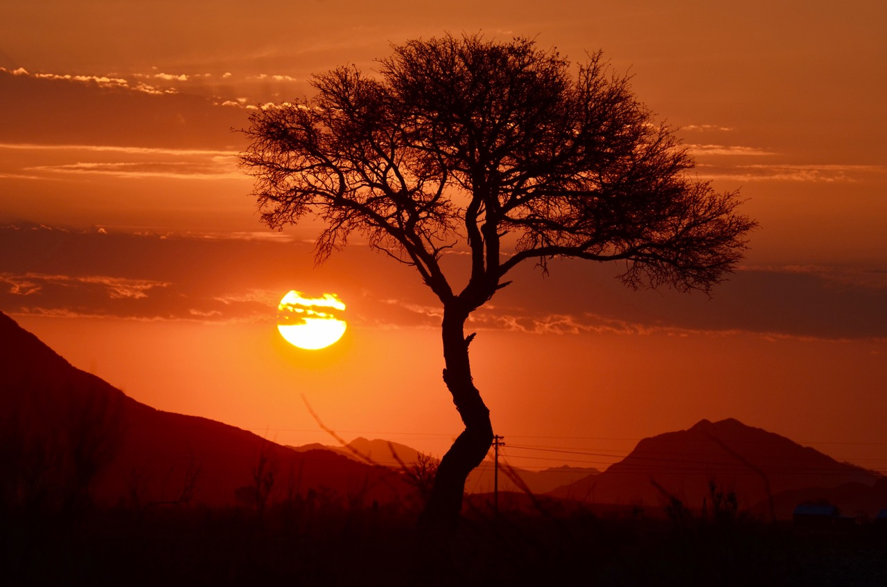 Sunset at Sossusvlei
