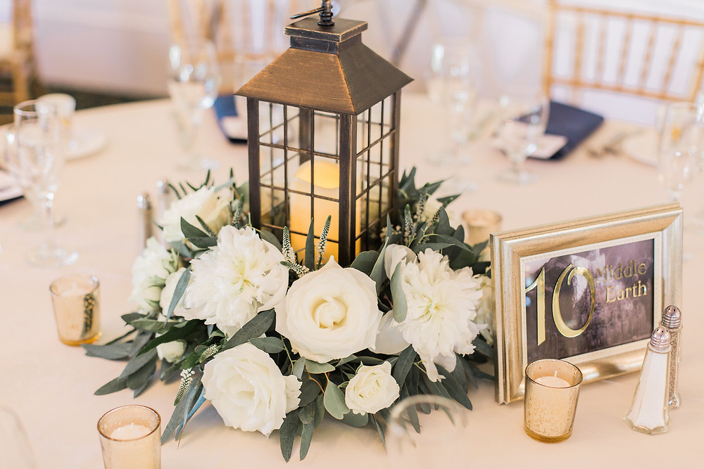 Lantern Centerpiece,Groveland Fairways Wedding, Fleur + Stitch, Meredith Jane Photography