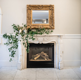 Aubrey Green Photography, The Commons 1854, Fireplace, Fleur + Stitch, Fleur and Stitch, Fleur & Stitch