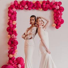 Lyra Vega Bridal, Paper Garland by Fleur + Stitch, Ria MacKenzie Photography