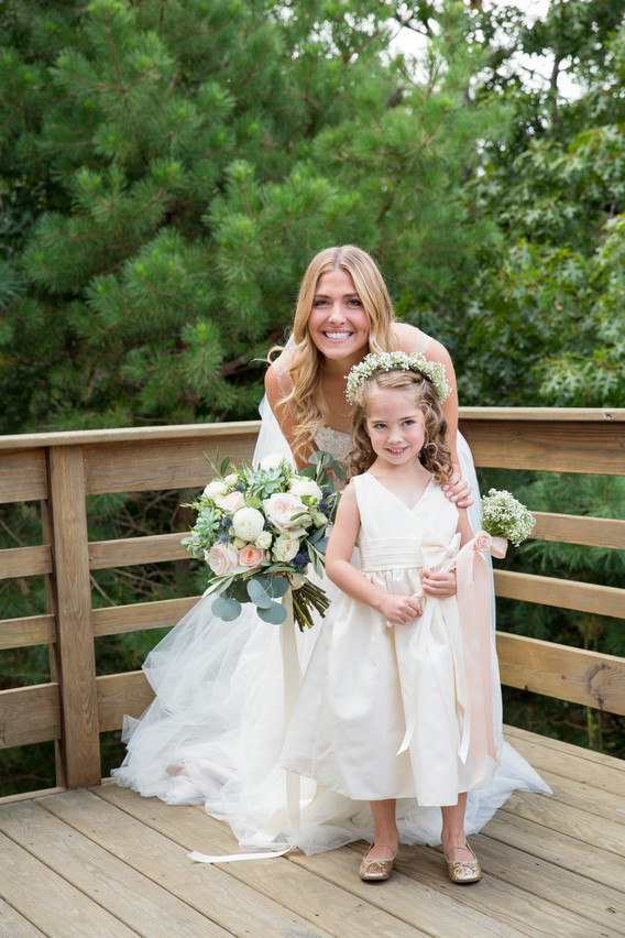 Fleur + Stitch, Blush wedding flowers, George Street Photos, Flower girl flowers