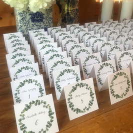Seating Cards by Fleur + Stitch