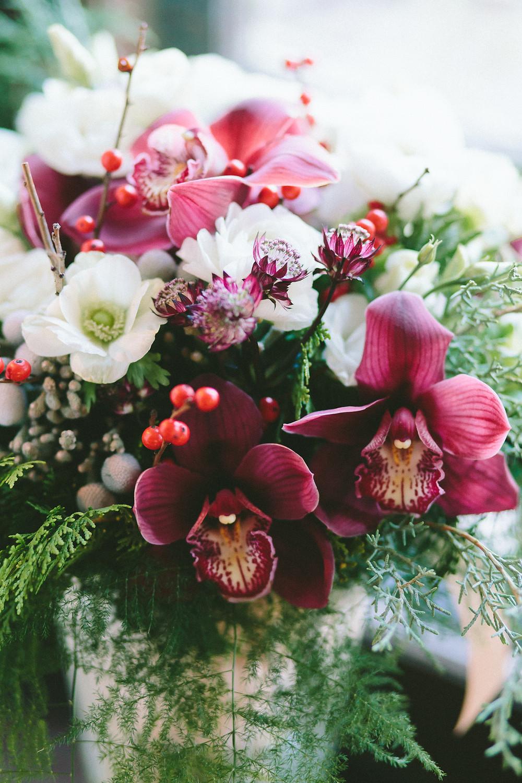 Christmas wedding, Christmas bouquet