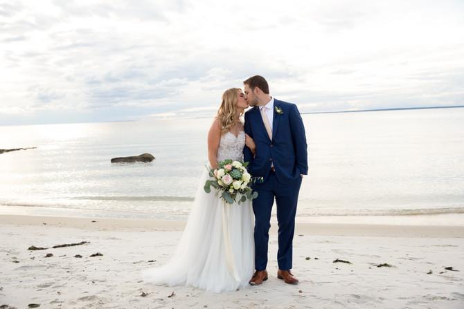 Mandy + Brian: A Romantic Cape Cod Beach Wedding