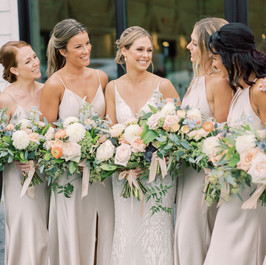 Bridal and Bridesmaid Bouquets, The Greenery, Fleur and Stitch, Marcela Plosker Photography