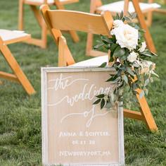 Wedding Ceremony, Isle Markers, Fleur and Stitch, Free Bird Photography