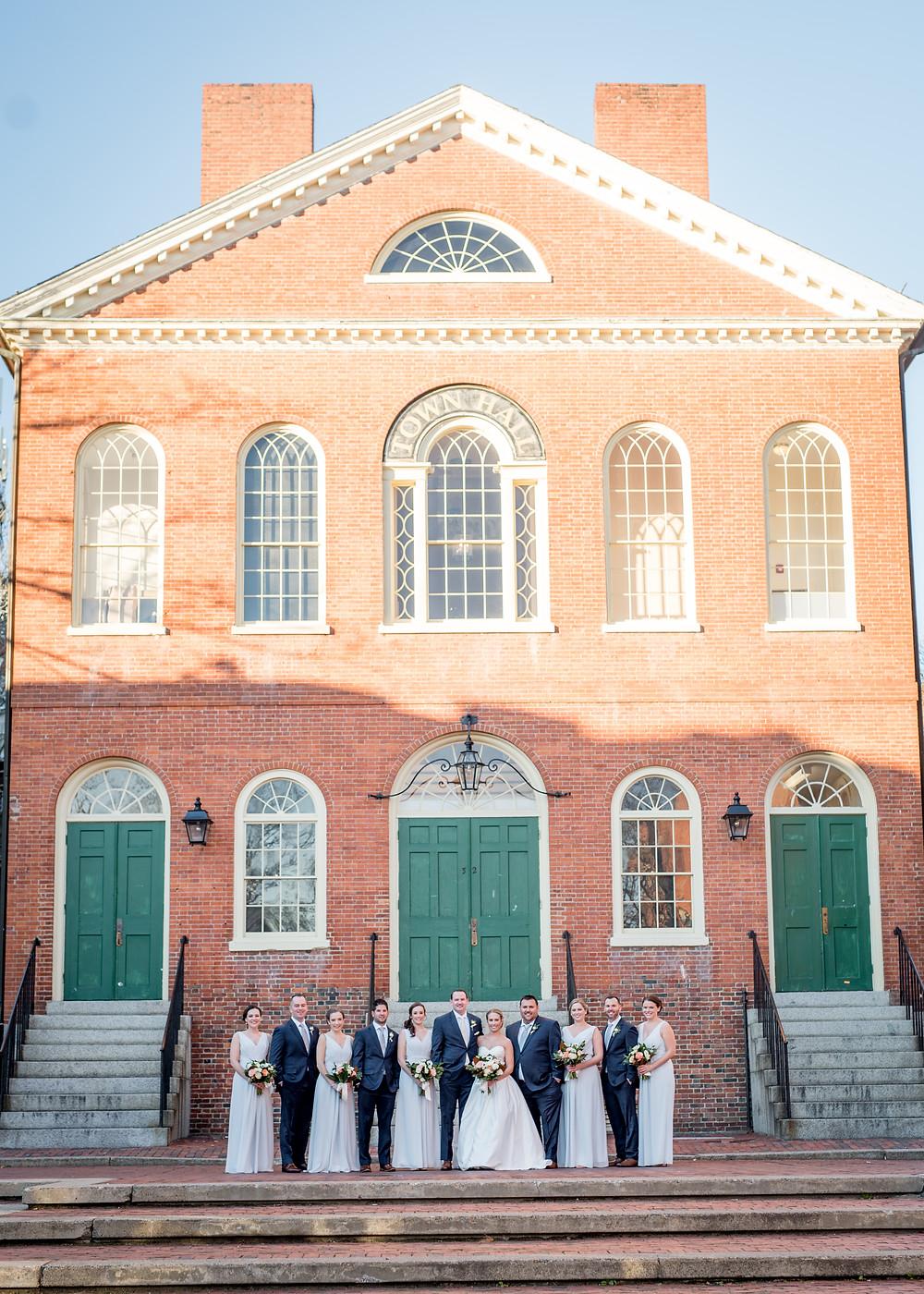 Old Town Hall, Salem MA wedding, Free Bird Photography, Fleur + Stitch, Fleur and Stitch Wedding Flowers