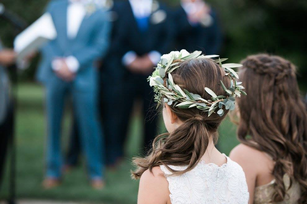 Hyland Orchard Wedding, floral crown