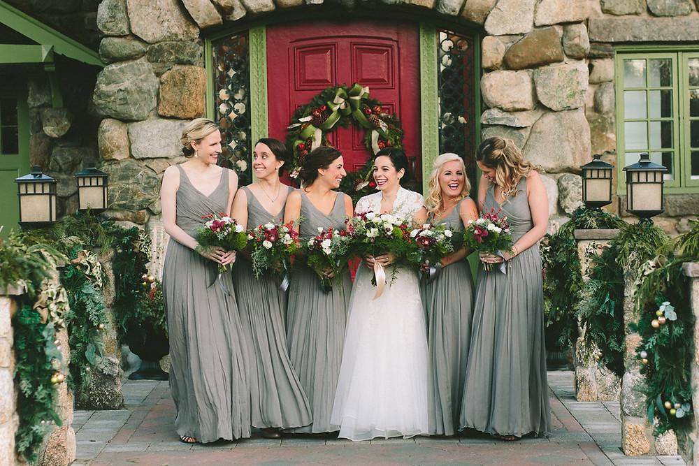 Willowdale Estate, Christmas Wedding, Flowers by Fleur + Stitch