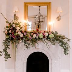 Mantle Flowers,Wedding Flowers, Fleur + Stitch, Fleur and Stitch, Fleur & Stitch