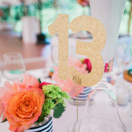 Fleur + Stitch, Fleur and Stitch, Fleur & Stitch, Table Numbers, Gold Table numbers