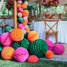 Fleur + Stitch, Fleur and Stitch, Fleur & Stitch, Paper Flowers, Honeycomb Ball Garland