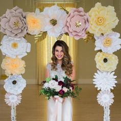 Fleur + Stitch, Fleur and Stitch, Fleur & Stitch, Paper Flowers, Ceremony Arbor