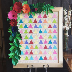 Fleur + Stitch, Fleur and Stitch, Fleur & Stitch, Paper Flowers, Seating Chart