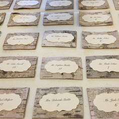 Fleur + Stitch, Fleur and Stitch, Fleur & Stitch, Seating Cards, Birch Seating Cards, Escort Cards