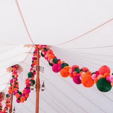 Fleur + Stitch, Fleur and Stitch, Fleur & Stitch, Paper Flowers, Honeycomb Garland, Paper wedding decorations