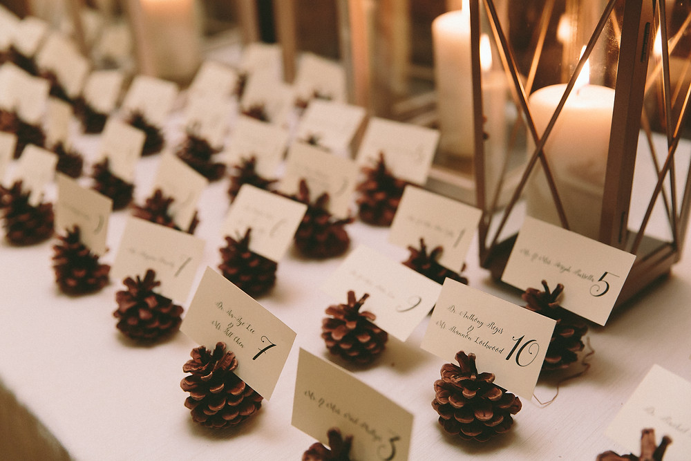 Pinecone Seating Cards
