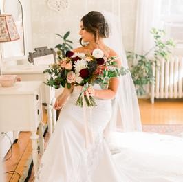 Bridal Bouquet, Peirce Farm at Witch Hill, Fleur + Stitch, Jessica Miranda Photography