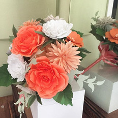 Fleur + Stitch, Fleur and Stitch, Fleur & Stitch, Paper Flowers, Paper Flower Bouquet