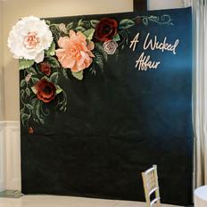 Paper Flower Wall, Backdrop, Chalkboard, Fleur and Stitch, Marcela Plosker Photography