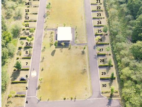 キャンプ場の区画サイズについて