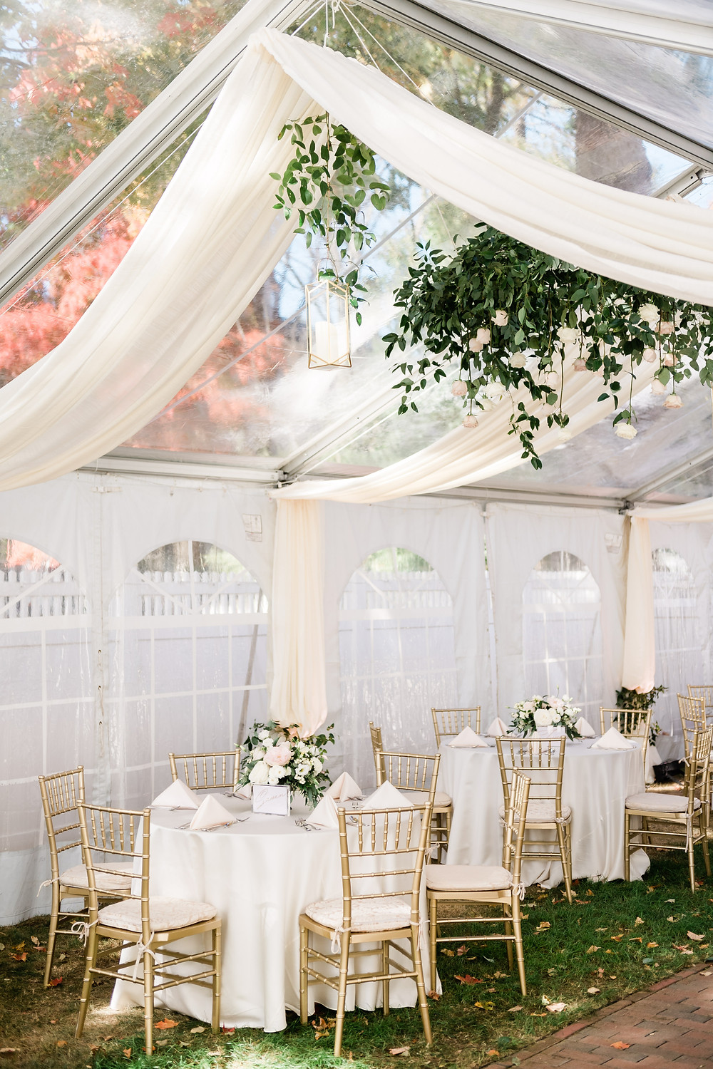 Fleur + Stitch, The Commons 1854, Tented Wedding, Clear Top tent, Micro Wedding, Covid Wedding