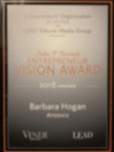John F. Barrett Entrepreneur Vision Awar
