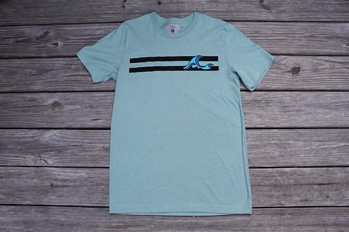 Sea Foam Green Striped Tee
