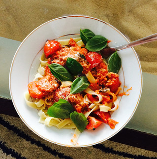 Belle's Tomato pasta!