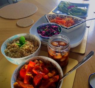 Simple feta salad lunch