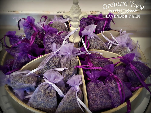 Mini Sheer Organza Lavender Sachet