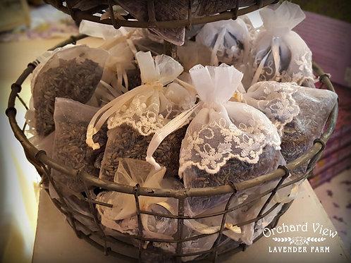 Small Embellished Sheer Organza Lavender Sachet