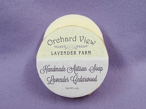 Handmade Artisan Lavender Cedarwood Soap