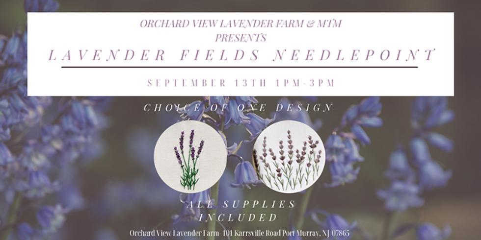 Lavender Fields Needlepoint