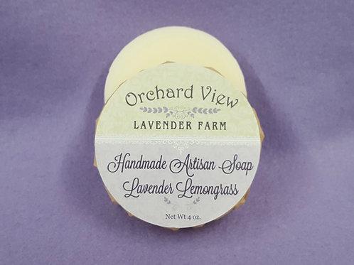 Handmade Artisan Lavender Lemongrass Soap