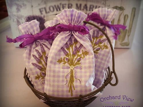 Handmade Cotton Embroidered Lavender Sachet