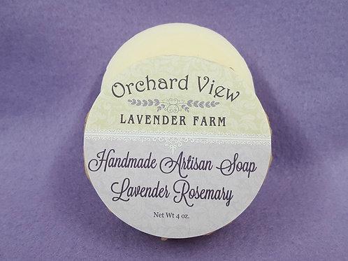 Handmade Artisan Lavender Rosemary Soap