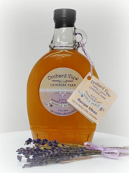 Lavender Orange Lemon Simple Syrup