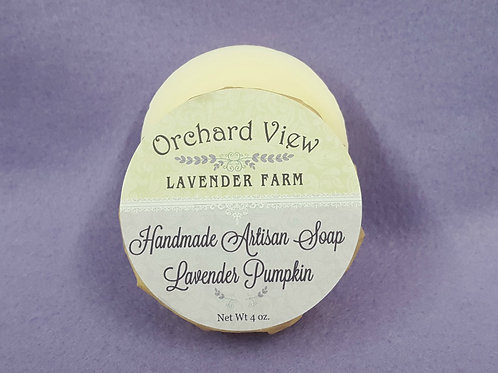 Handmade Artisan Lavender Pumpkin Soap