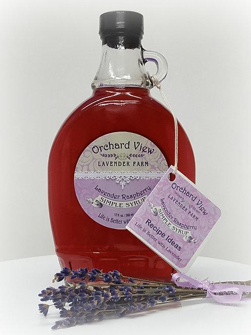 Lavender Raspberry Simple Syrup