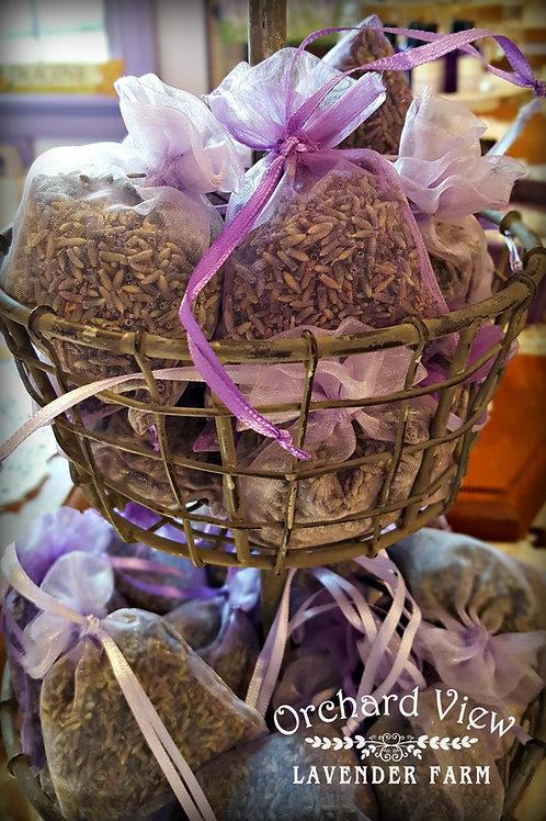 Small Sheer Organza Lavender Sachet