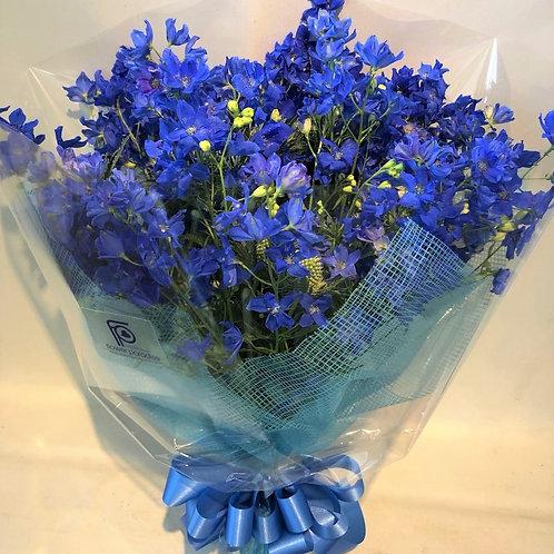 F5115- 祝花束 ブルー系-デルフィニウム 01