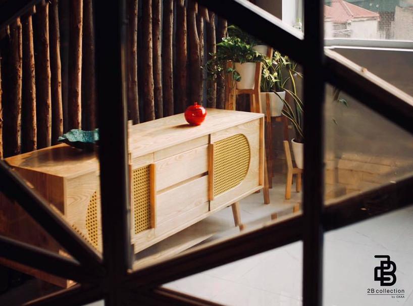 Retro Rattan sideboard