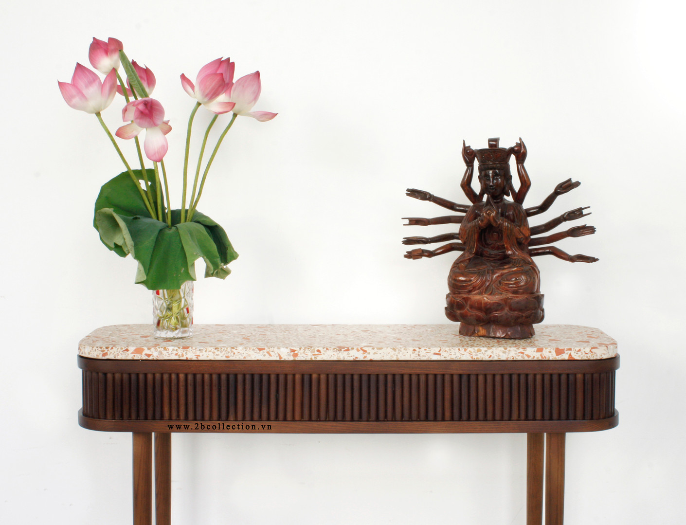 Wood Terrazo Console Table